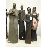 Lot 472 - 4 Soul Journeys Maasai figures