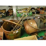Lot 102 - A copper & brass coal bucket,