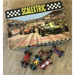 A 1960's Scalextric Set No.32 (inc. cars) with 5 unboxed cars
