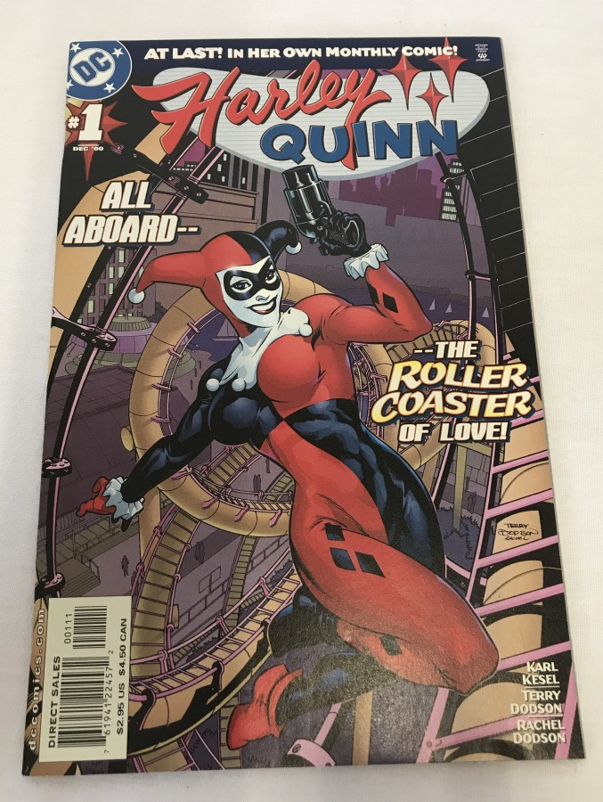 Lot 48 - Original 'Harley Quinn' Issue #1 comic book Near Mint condition. Published by DC Comics in Dec 2000.