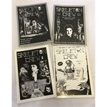 4 issues of 'Skeleton Crew - The Magazine of Modern Horror Literature'. Issues #1, #2, #3/4, and #5.