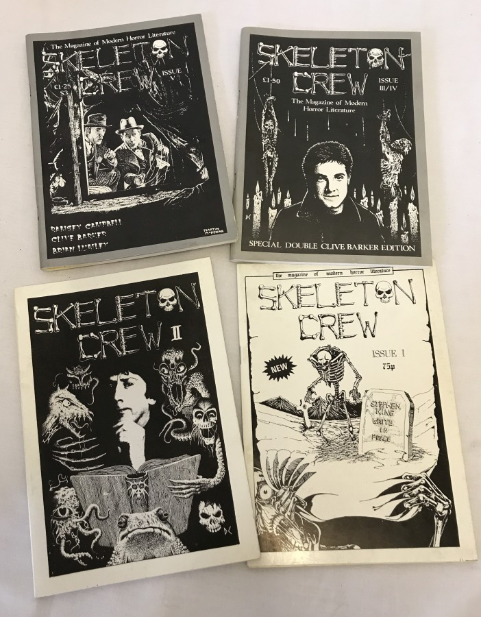 Lot 43 - 4 issues of 'Skeleton Crew - The Magazine of Modern Horror Literature'. Issues #1, #2, #3/4, and #5.