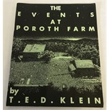 Rare soft cover copy of 'The Events at Poroth Farm' by T. E. D. Klein.