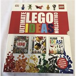 A boxed set of Lego books The Ultimate Lego Ideas Collection.