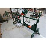WEMCO PORTABLE VARIABLE SPEED WIRE MEASURING RACK WITH VARIABLE SPEED MOTOR, FOOT PEDAL, METERING