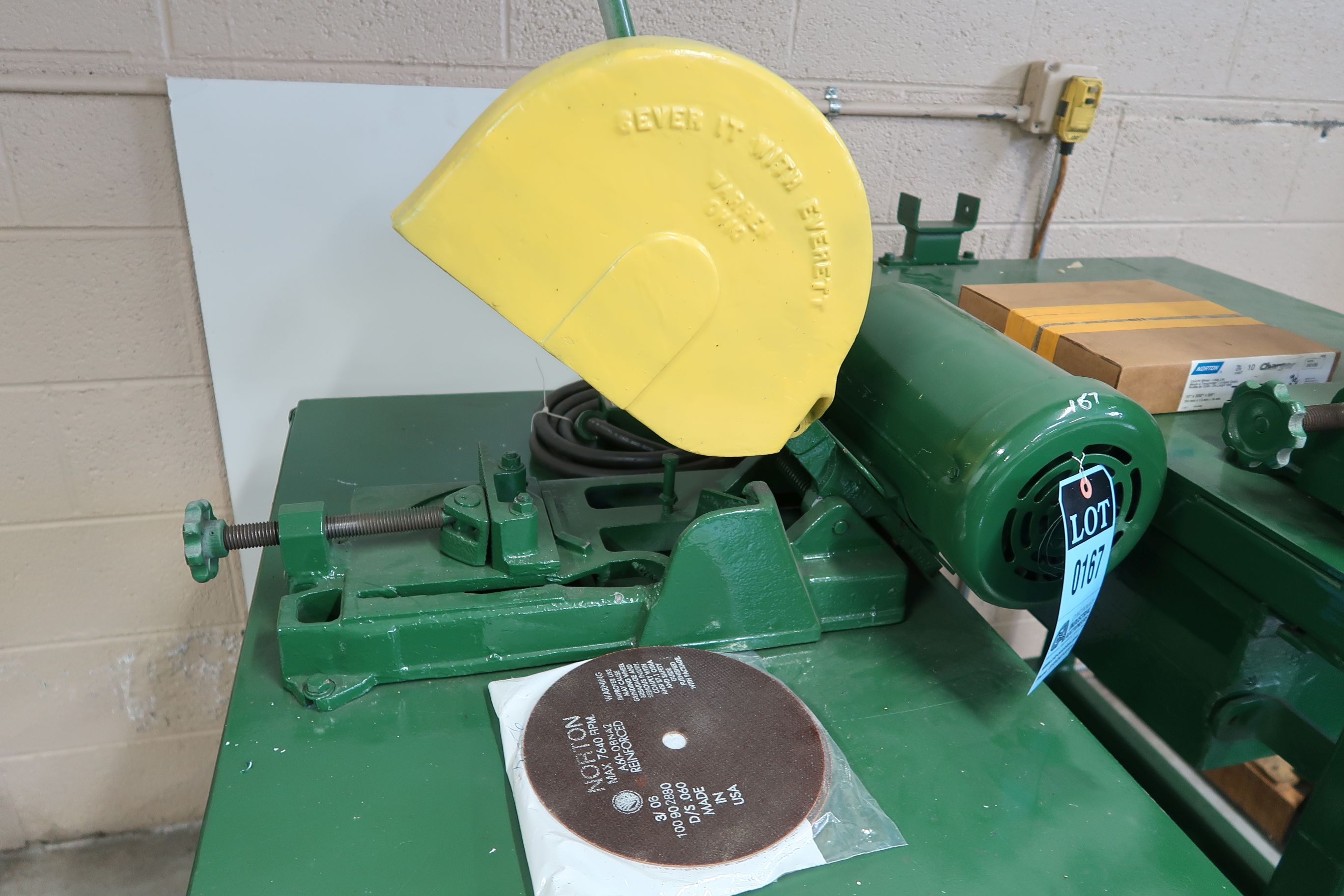 """14"""" EVERETT CART MOUNTED CHOP SAW - Image 2 of 3"""