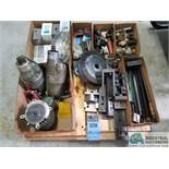 (LOT) MACHINE REPAIR PARTS, DRY MOTORS SAFETY SWITCHES, BEARING, REAMERS, GEARS, KING PINS AND