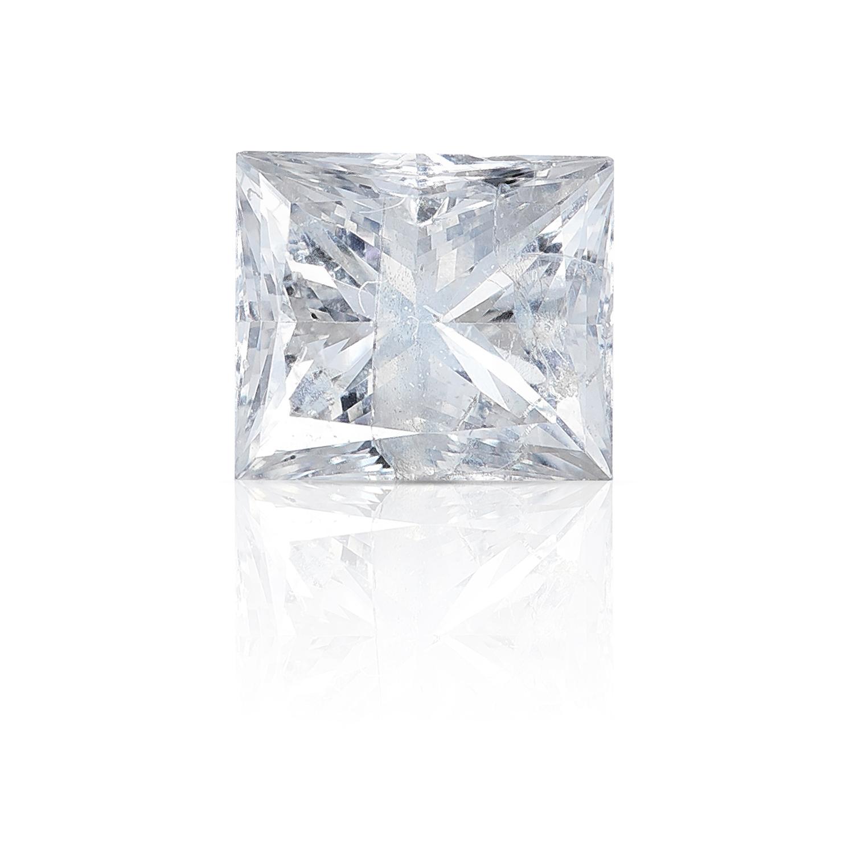 A SQUARE MODIFIED BRILLIANT CUT / PRINCESS CUT DIAMOND, TOTALLING 0.57cts, UNMOUNTED.