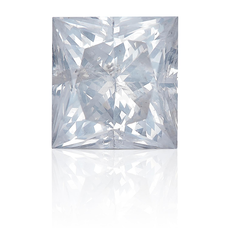 A 1.96ct SQUARE MODIFIED BRILLIANT/PRINCESS CUT DIAMOND, UNMOUNTED.