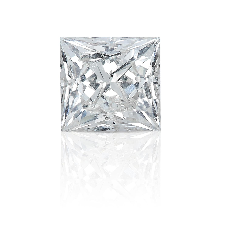 A SQUARE MODIFIED BRILLIANT CUT / PRINCESS CUT DIAMOND, TOTALLING 0.60cts, UNMOUNTED.