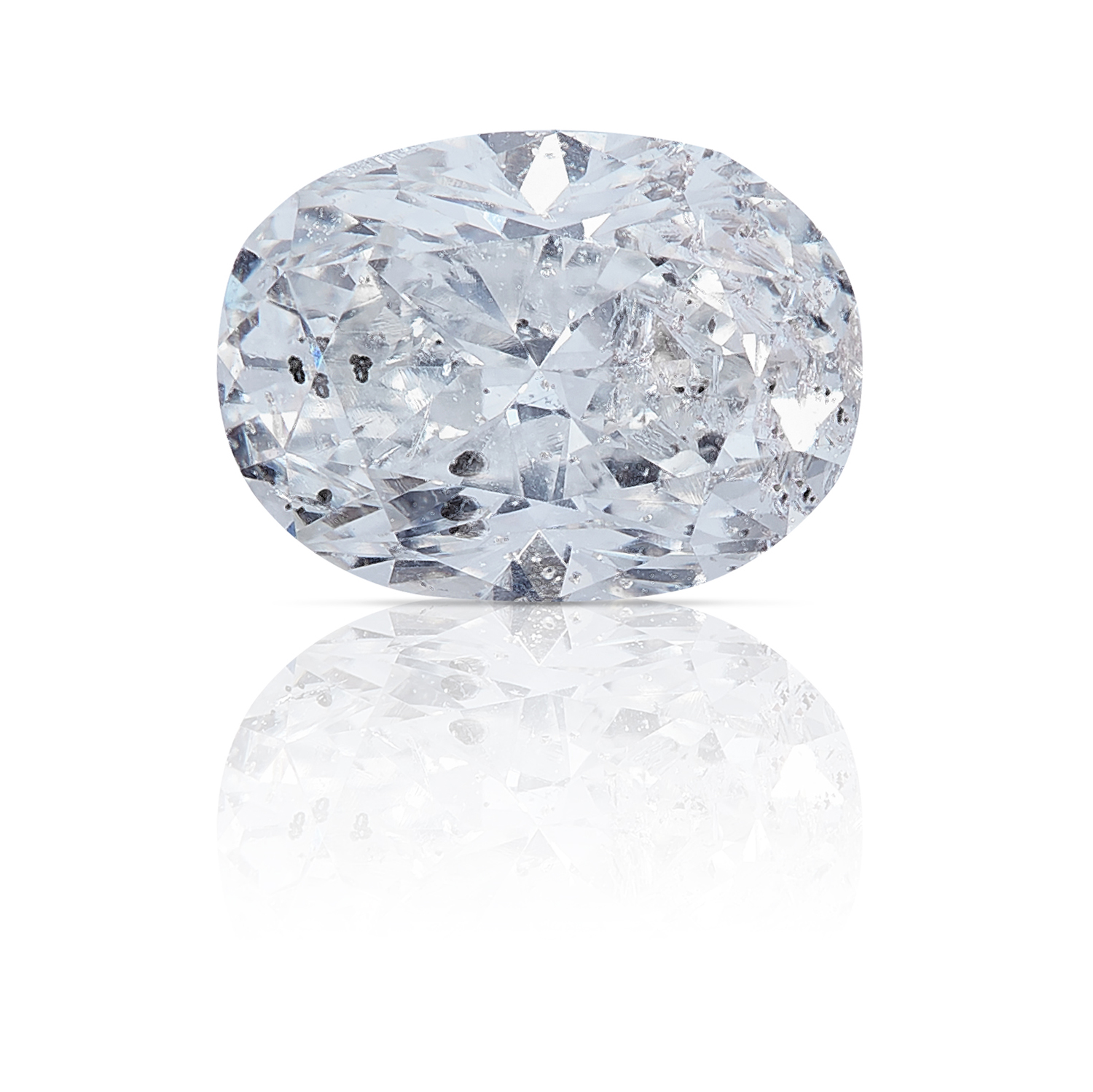 AN OVAL SHAPED BRILLIANT CUT DIAMOND TOTALLING 0.65cts, UNMOUNTED.