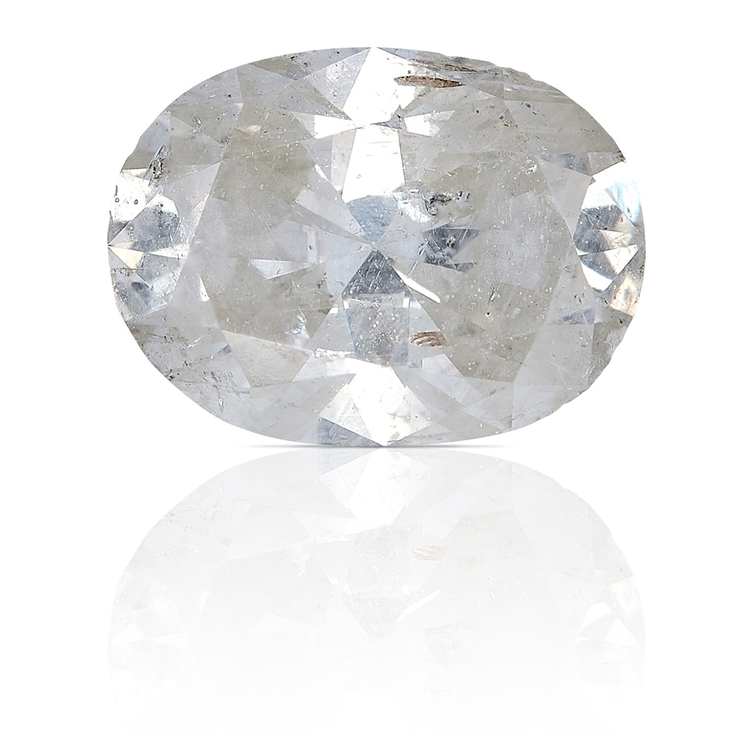 A 0.99ct OVAL SHAPED BRILLIANT CUT DIAMOND, UNMOUNTED.