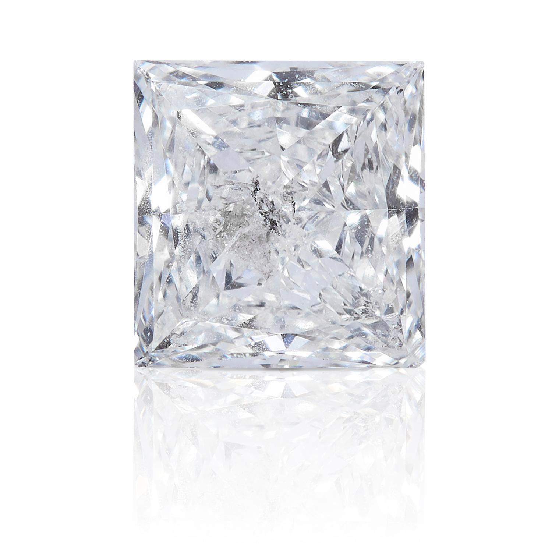 A SQUARE MODIFIED BRILLIANT CUT / PRINCESS CUT DIAMOND, TOTALLING 0.35cts, UNMOUNTED.