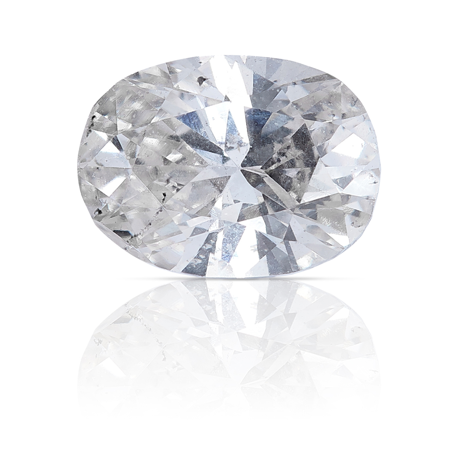 AN OVAL SHAPED BRILLIANT CUT DIAMOND, TOTALLING 0.68cts, UNMOUNTED.