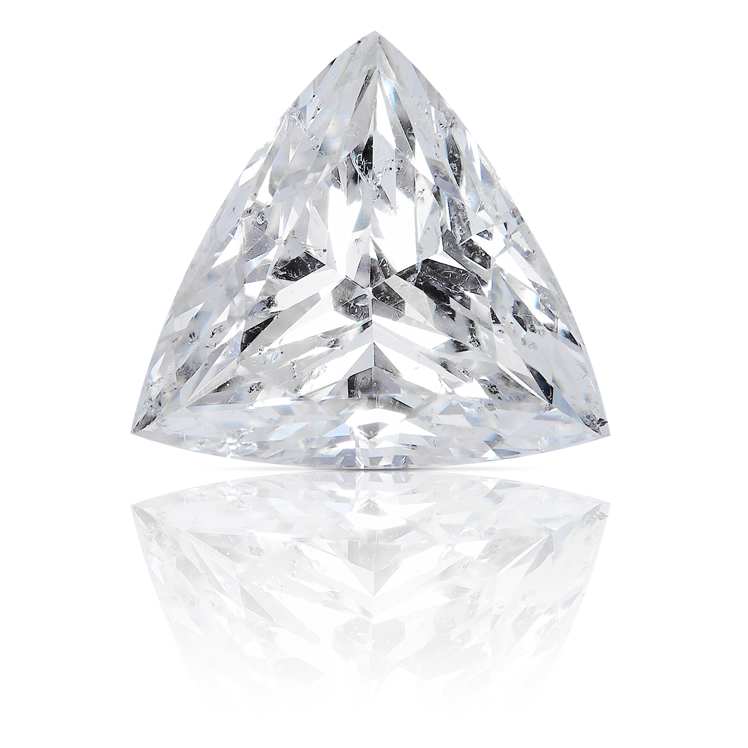 A 1.12ct MODERN TRILLION CUT DIAMOND, UNMOUNTED.