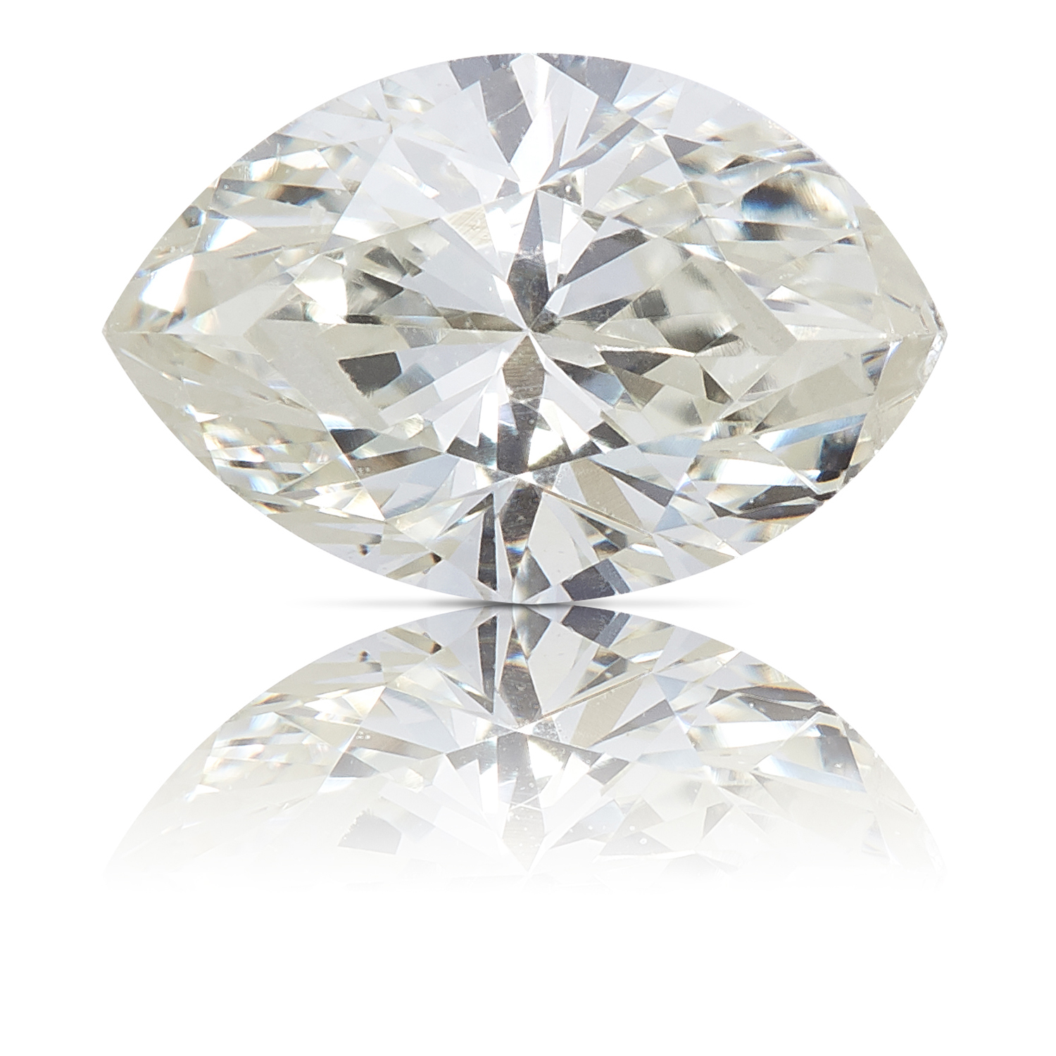A 0.37ct MARQUISE CUT DIAMOND, UNMOUNTED.
