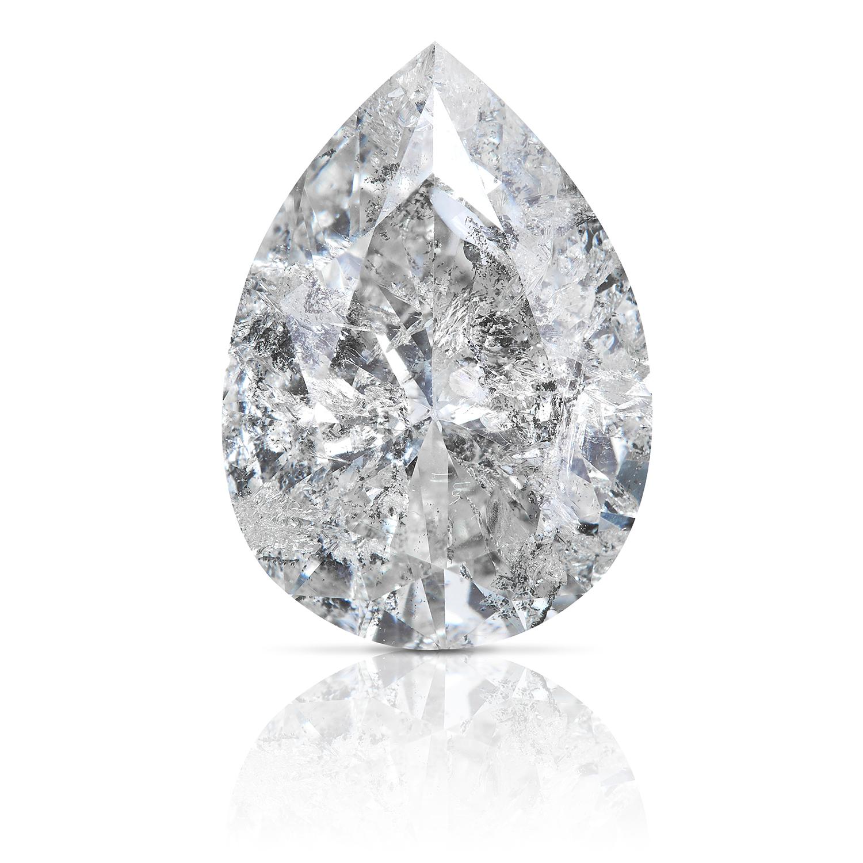 A 2.29ct PEAR SHAPED BRILLIANT CUT DIAMOND, UNMOUNTED.