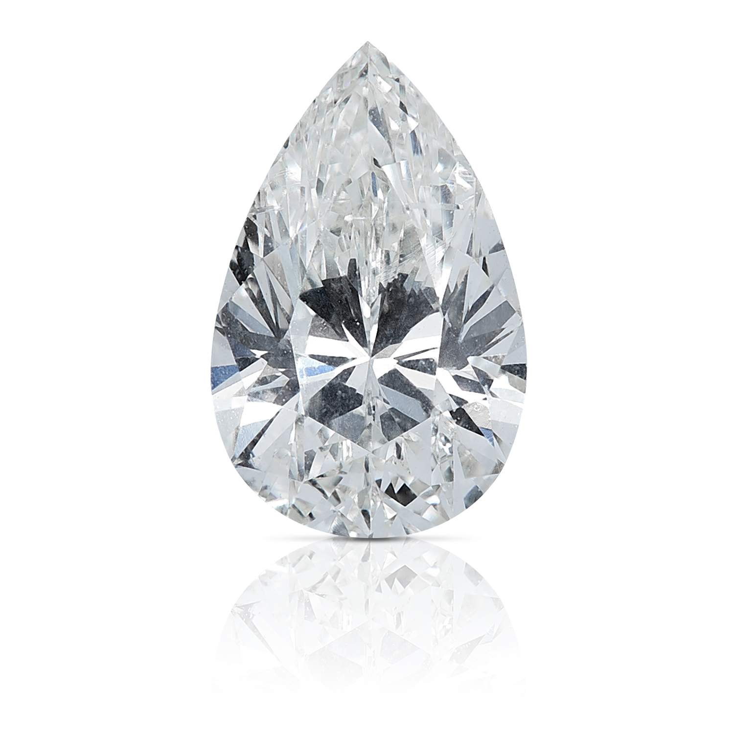 A 0.72ct PEAR SHAPED BRILLIANT CUT DIAMOND, UNMOUNTED.