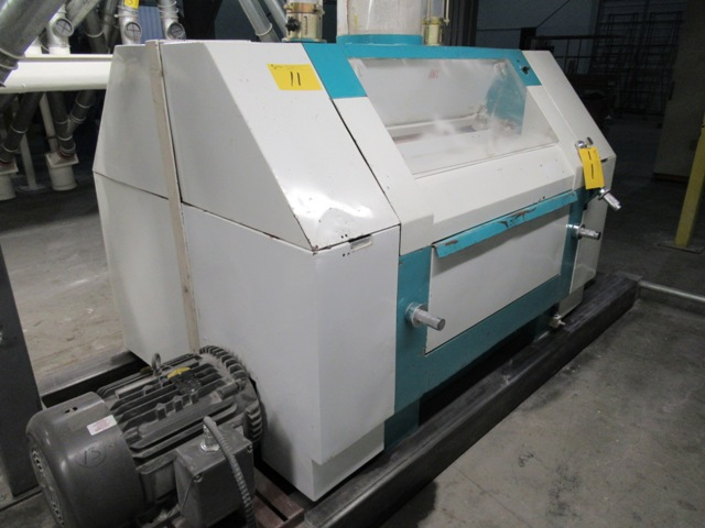 """Lot 11 - 2001 INDOPOL MM-1PRM04, 40""""X10"""" APPROX. DOUBLE ROLLER GRINDING MILL, 2 - 15 HP MOTORS S/N: 224 (NO"""