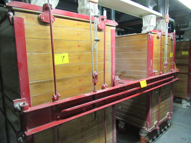 """Lot 7 - INDUSTRIAL WOODEN PLANT 42""""X64"""" APPROX. 17 PLANK TWIN ST. DUAL FLOUR SIFTER W/10 HP MOTOR APPROX. ("""