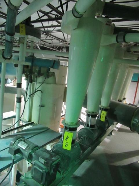 Lot 48 - INDOPOL 3 STN. CYCLONE WITH ROTARY AIR LOCKS, 1.5 HP DRIVE (NO WIRING)
