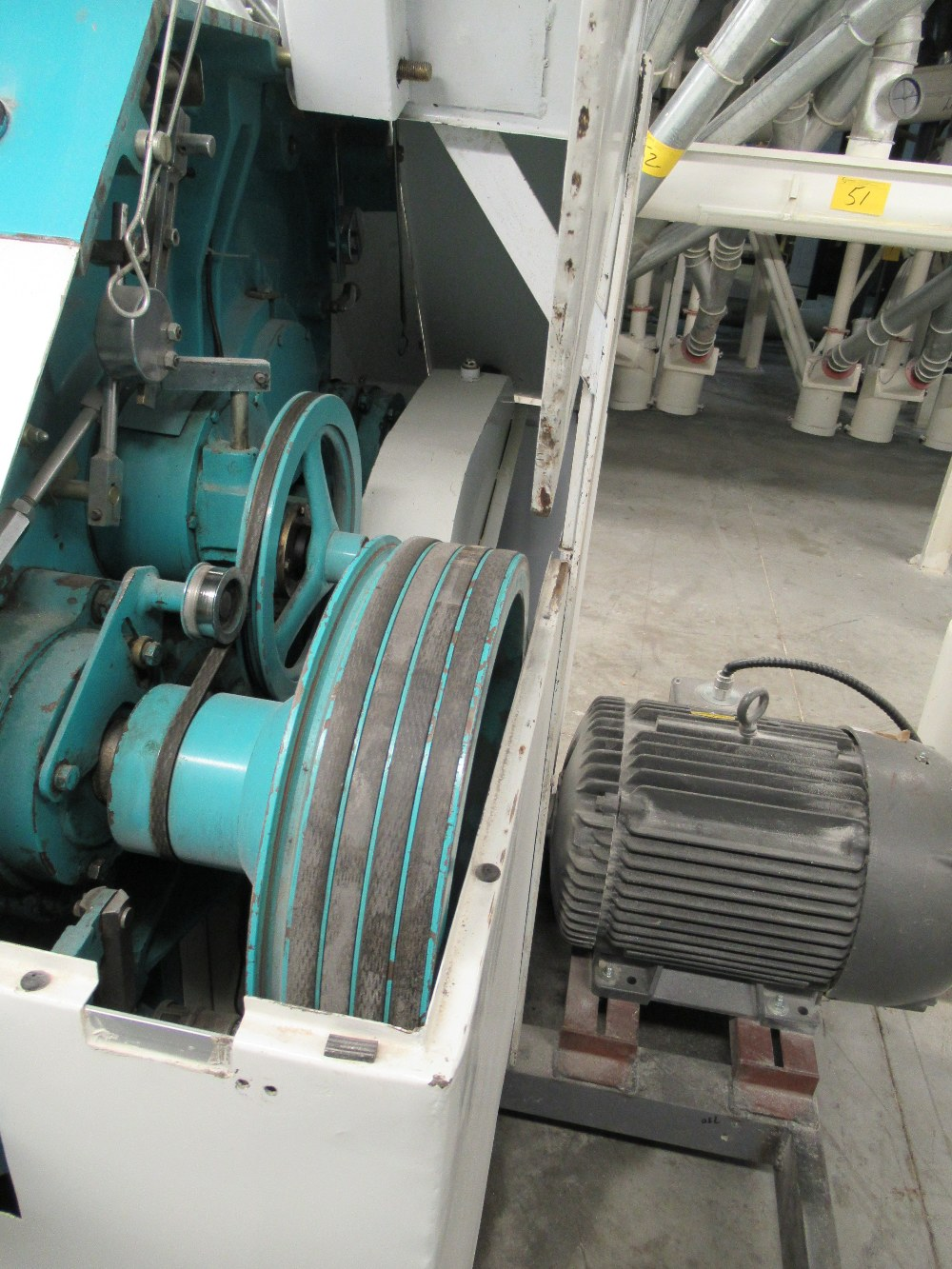 """Lot 10 - 2001 INDOPOL MM-1PRM04, 40""""X10"""" APPROX. DOUBLE ROLLER GRINDING MILL, 1 - 20 HP, 1 - 15 HPMOTORS S/N:"""