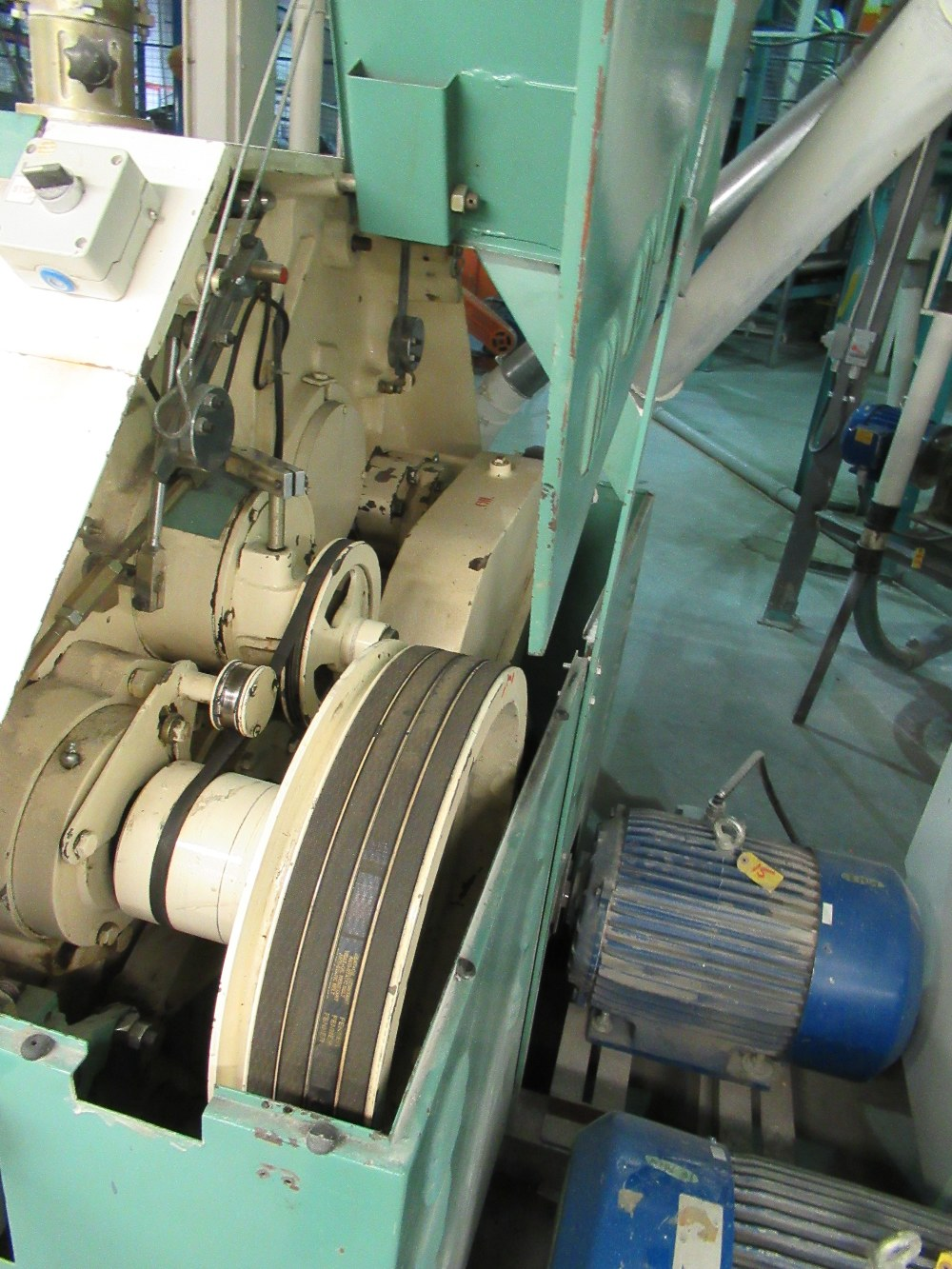 """Lot 14 - 2001 INDOPOL MM-1PRM04, 40""""X10"""" APPROX. DOUBLE ROLLER GRINDING MILL, 1 - 10 HP, 1 - 15HP MOTORS S/N:"""