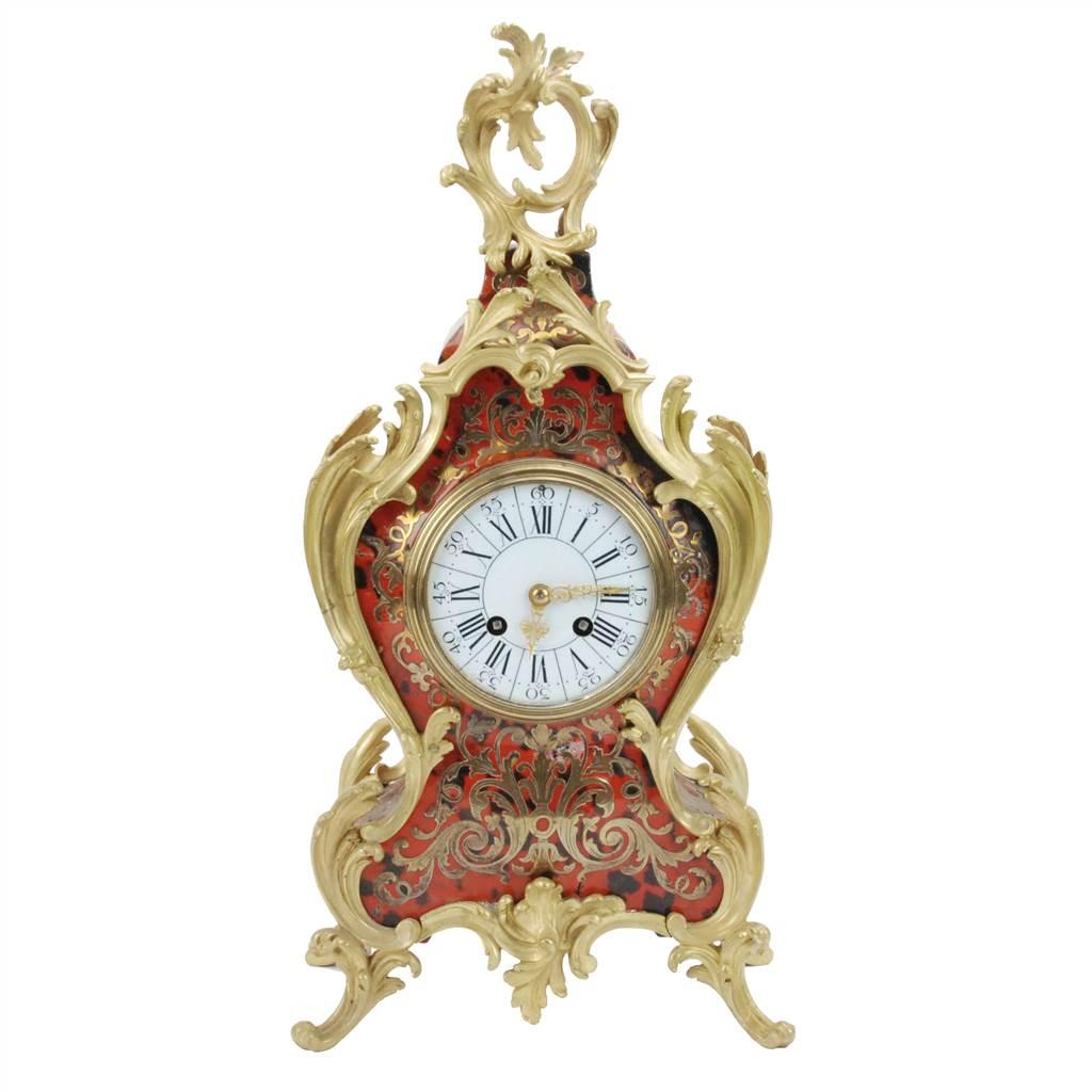S. MARTI ET CIE.BOULLE FRENCH CLOCK ORMULU BRONZE 1889