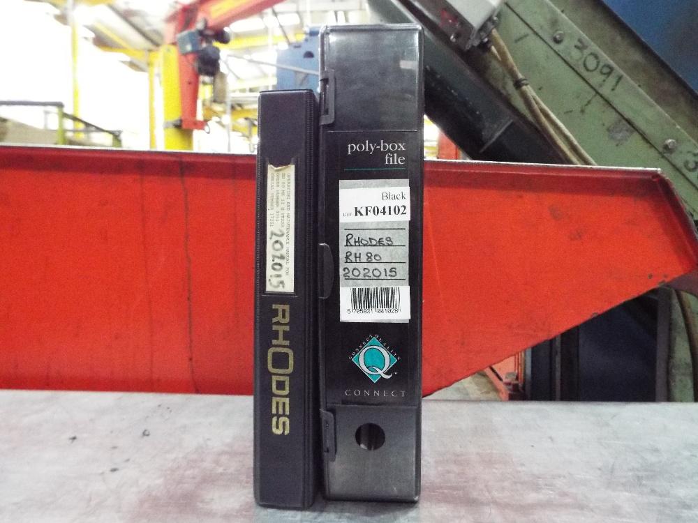 Lot 22 - Rhodes RH80 Geared Press cw Updated MCS Control Cabinet