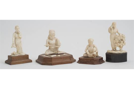 A series of four Indian ivory carvings, early 20th Century