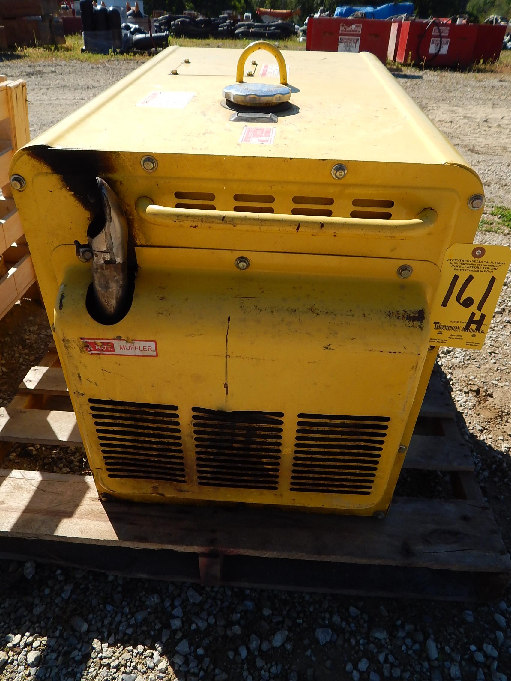 Lot 161h - Leading Model LDE6800TA Diesel Powered Generator, 256 hrs.