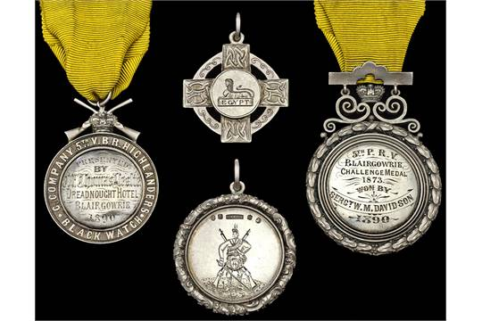 Prize Medals awarded to Sergeant W M  Davidson, Royal