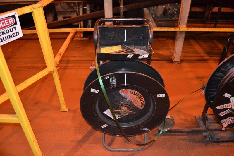 Lot 1 - BANDING CART W/PLASTIC BANDING