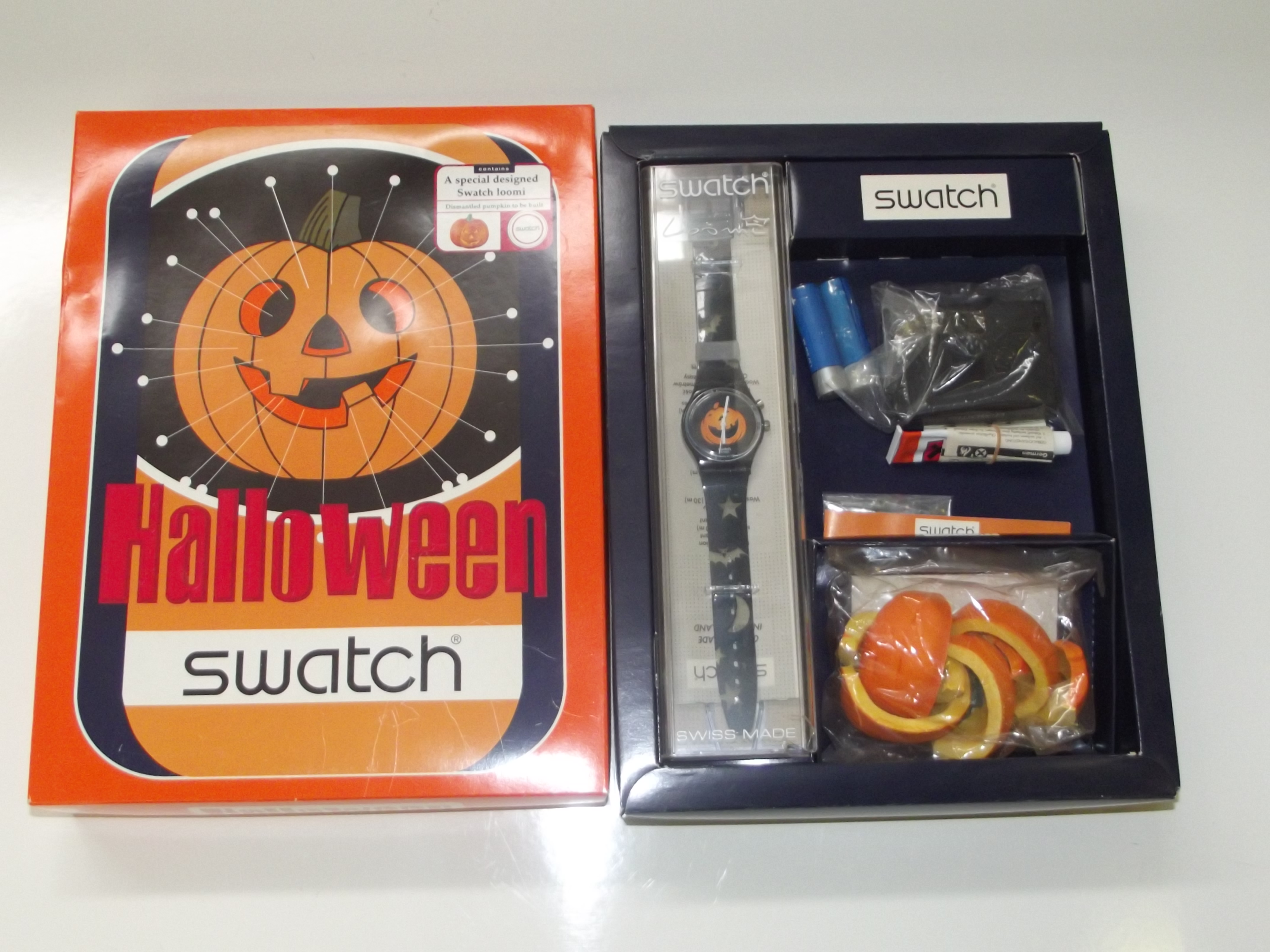 Halloween Swatch watch, a special designed Swatch loomi. With ...