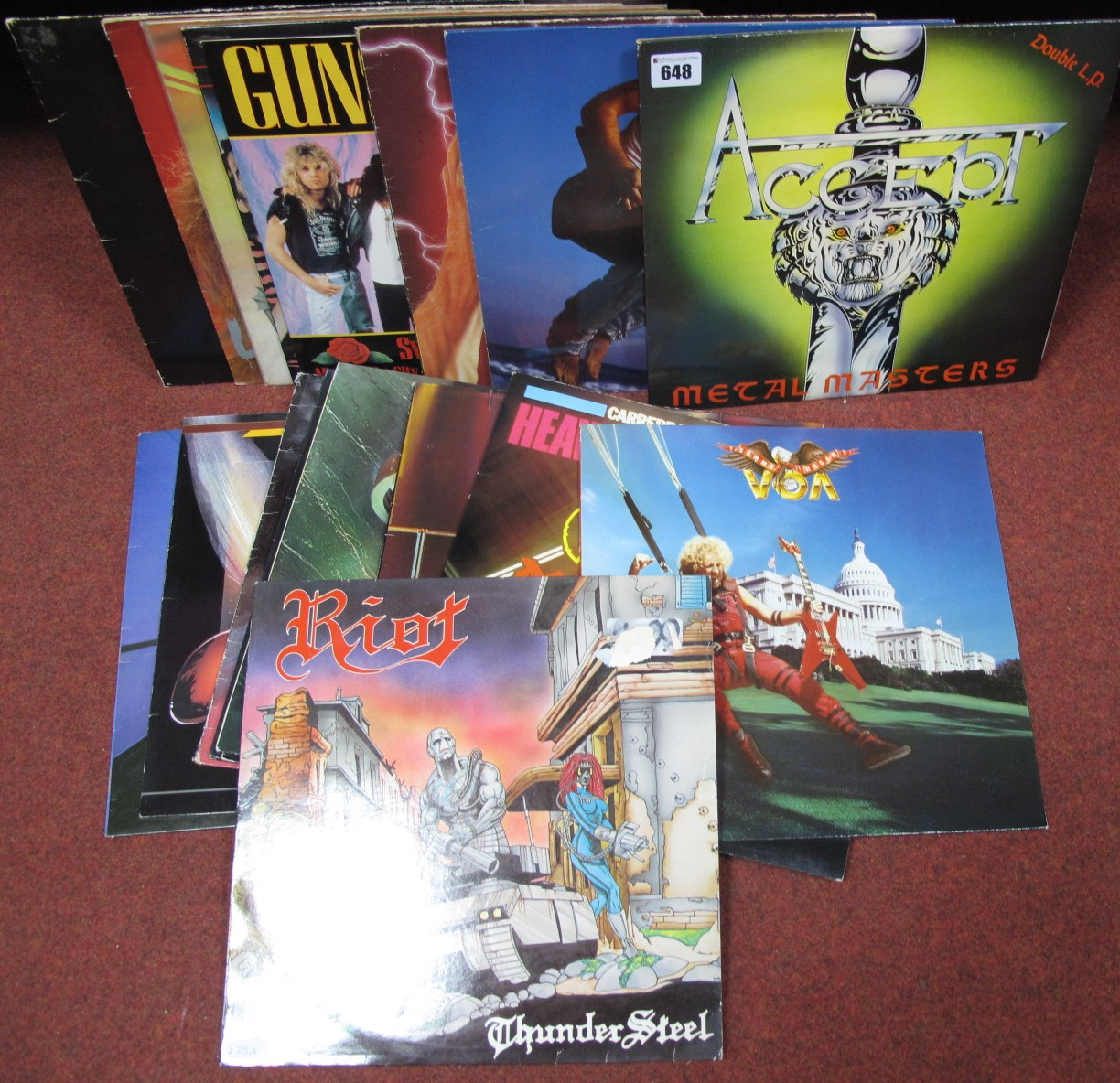 Lot 648 - US/UK Metal and Rock - 'Metal For Muthas', Riot, Girl, Guns n' Roses, Force, Hot Spikes, Ramones,