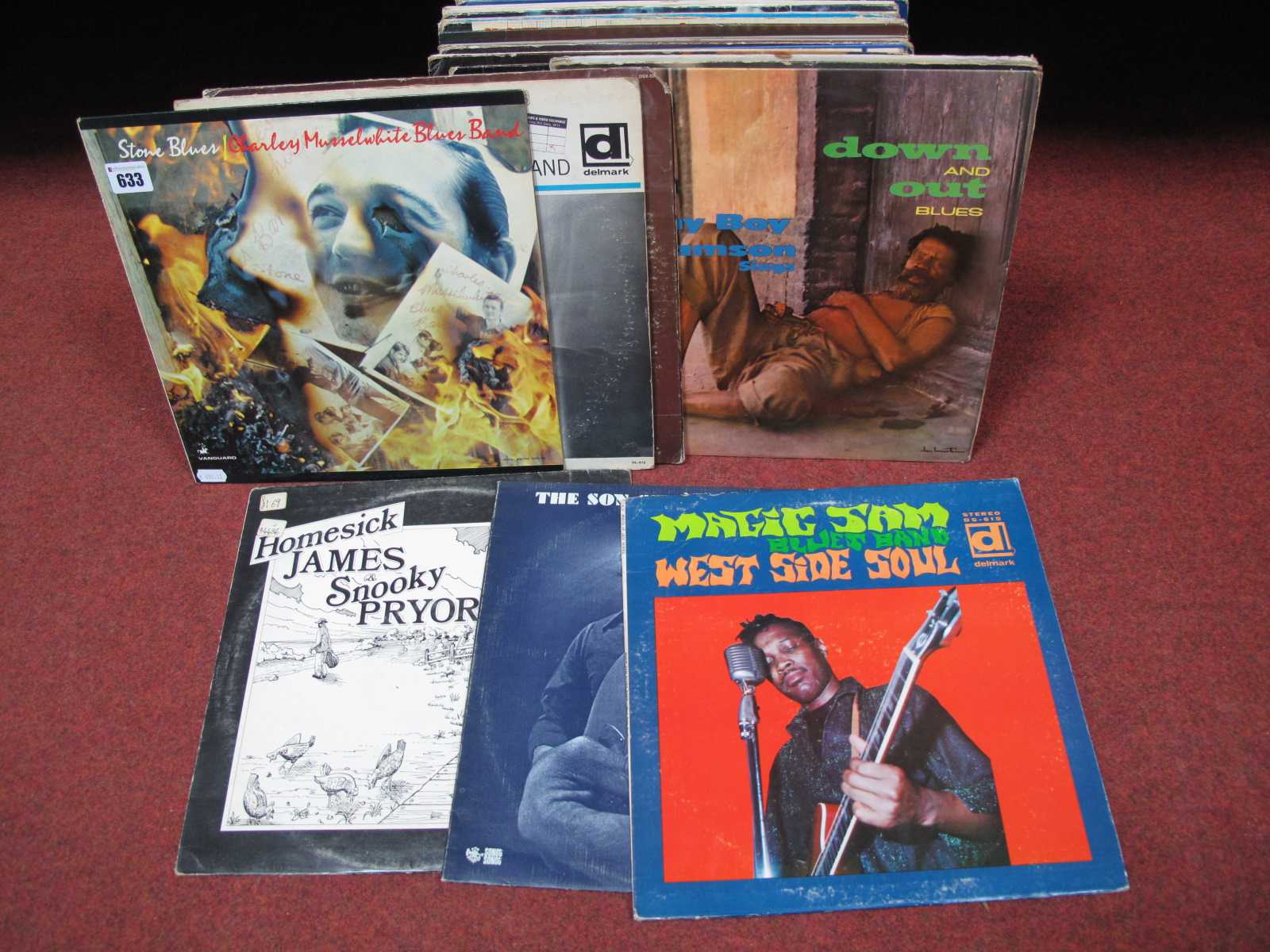 Lot 633 - US Blues. A nice collection to include Charley Musselwhite 'Stone Blues', The Son Seals Blues