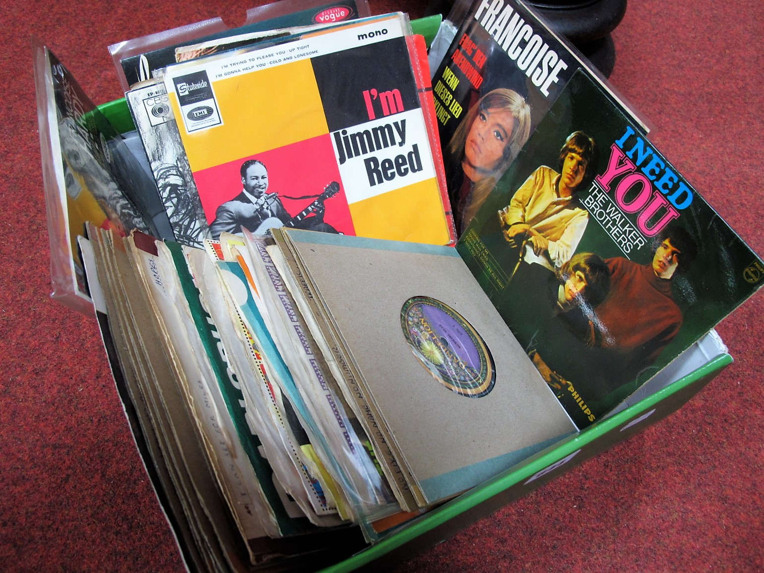 "Lot 644 - A Nice Collection of 1960's/70's 7"" and EP Records, including 'I'm Jimmy Reed', Walker Brothers, The"