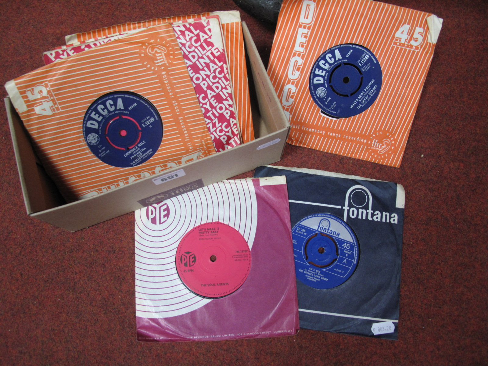 Lot 651 - Soul/Mod 45's. A great collection to include Soul Agents 'The Seventh Son', Spencer Davis 'I'm a