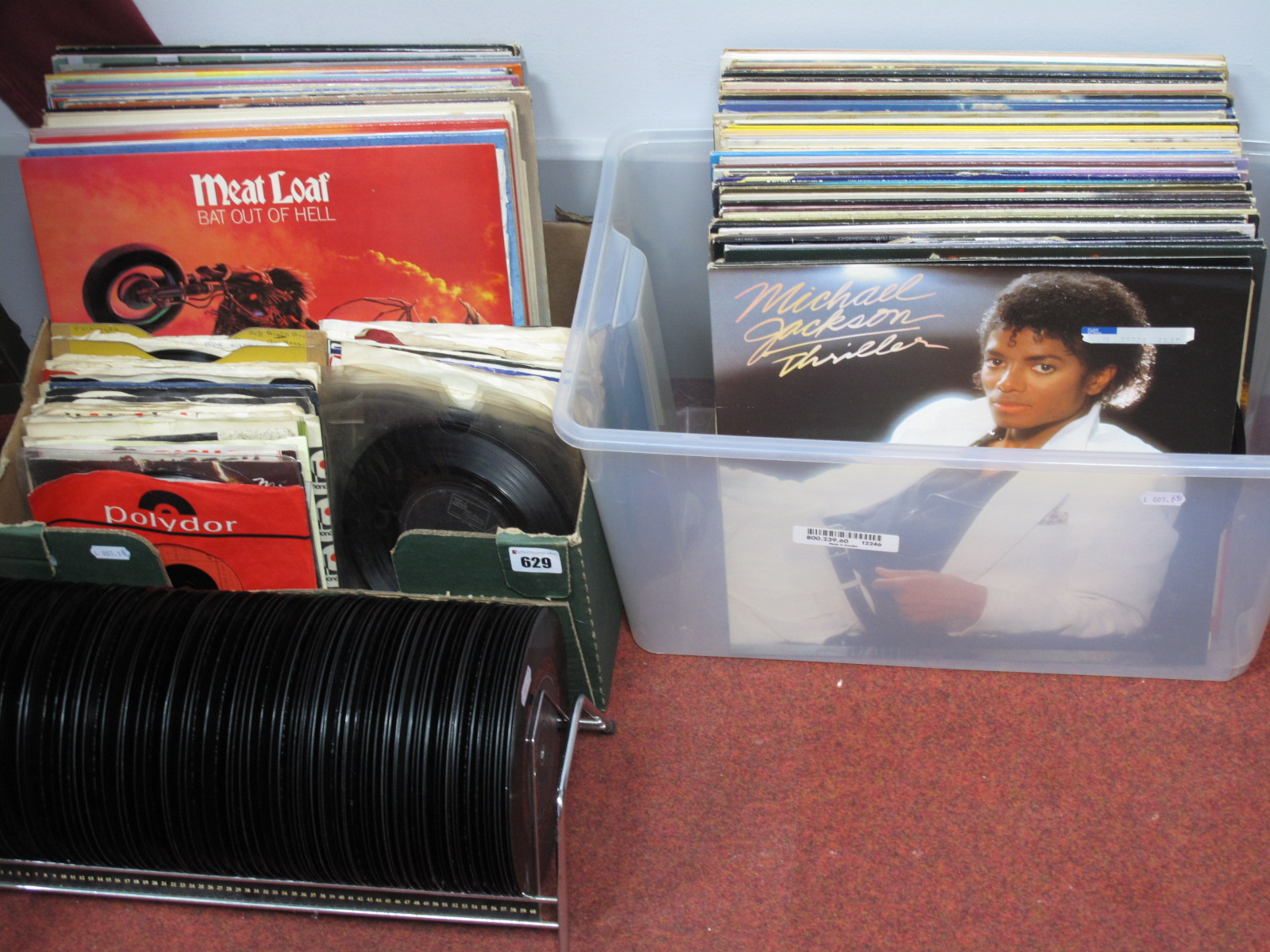 """Lot 629 - A Collection of LP's and 7"""" Records, to include Meat Loaf 'Bat Out of Hell', The Who, Michael"""
