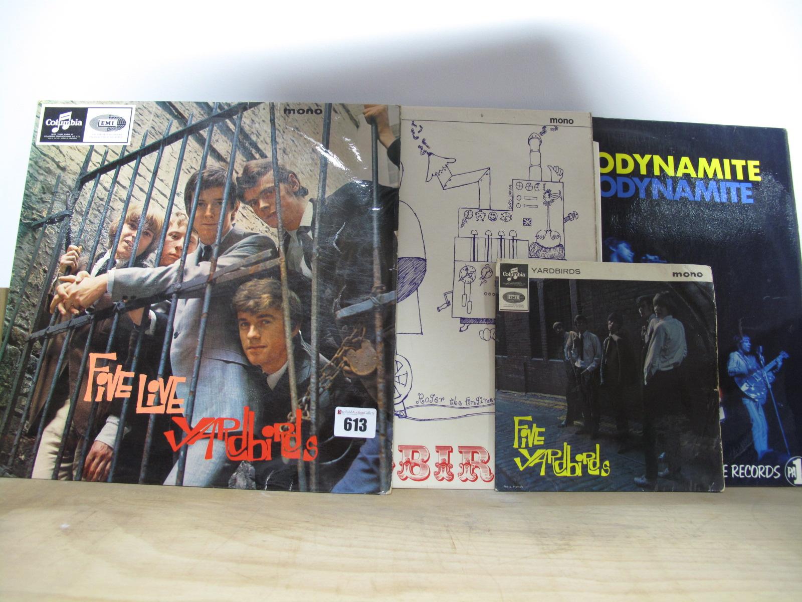 Lot 613 - Yardbirds 'Five Live' LP, 1964, Mono 33SX 1677, Columbia blue/black, 1N/1N matrix, Emitex inner,
