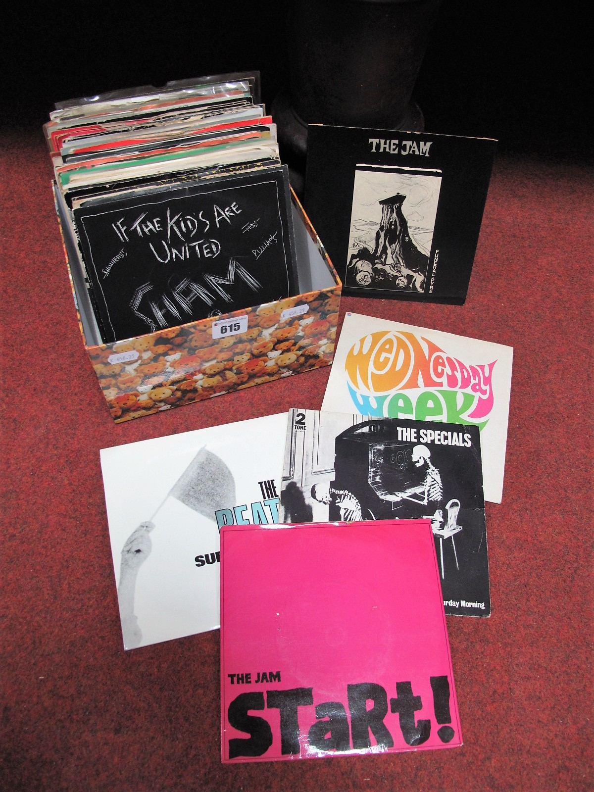 """Lot 615 - Punk/New Wave/Indie/Mod Revival - 7"""" Singles, to include Specials, The Jam, Undertones, Damned,"""