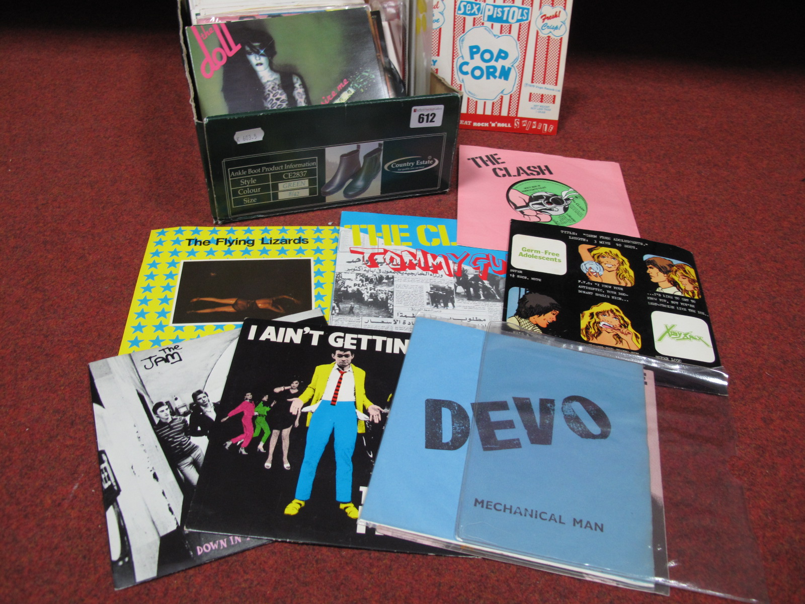 "Lot 612 - A Nice Collection of Over Eighty Punk and Inspired 7"" Singles, including Vibrators, Sex Pistols, X-"