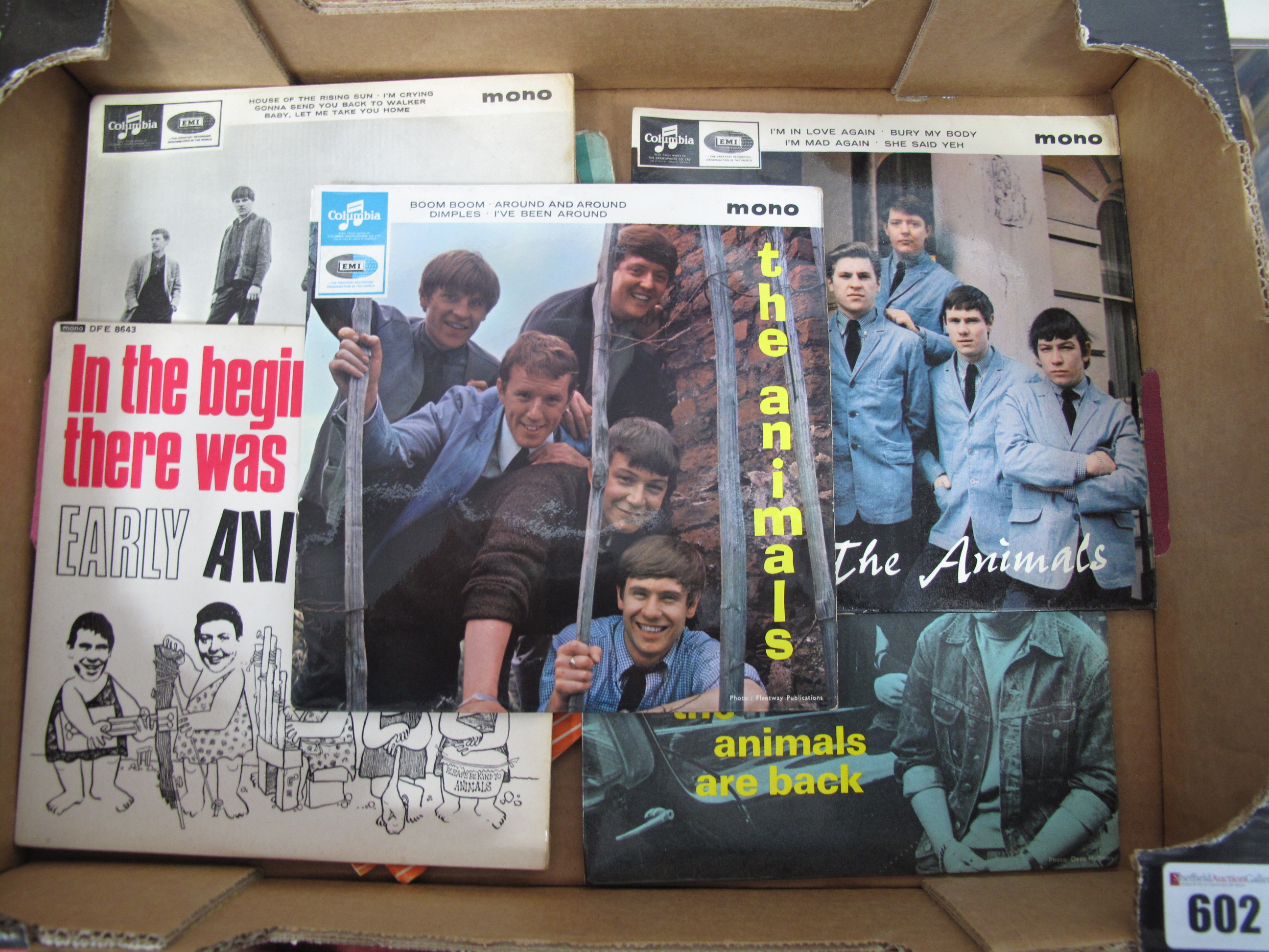 Lot 602 - The Animals. Five 1960's EP's to include 1st, The Animals Are Back, The Animals (SEG 8439), In The