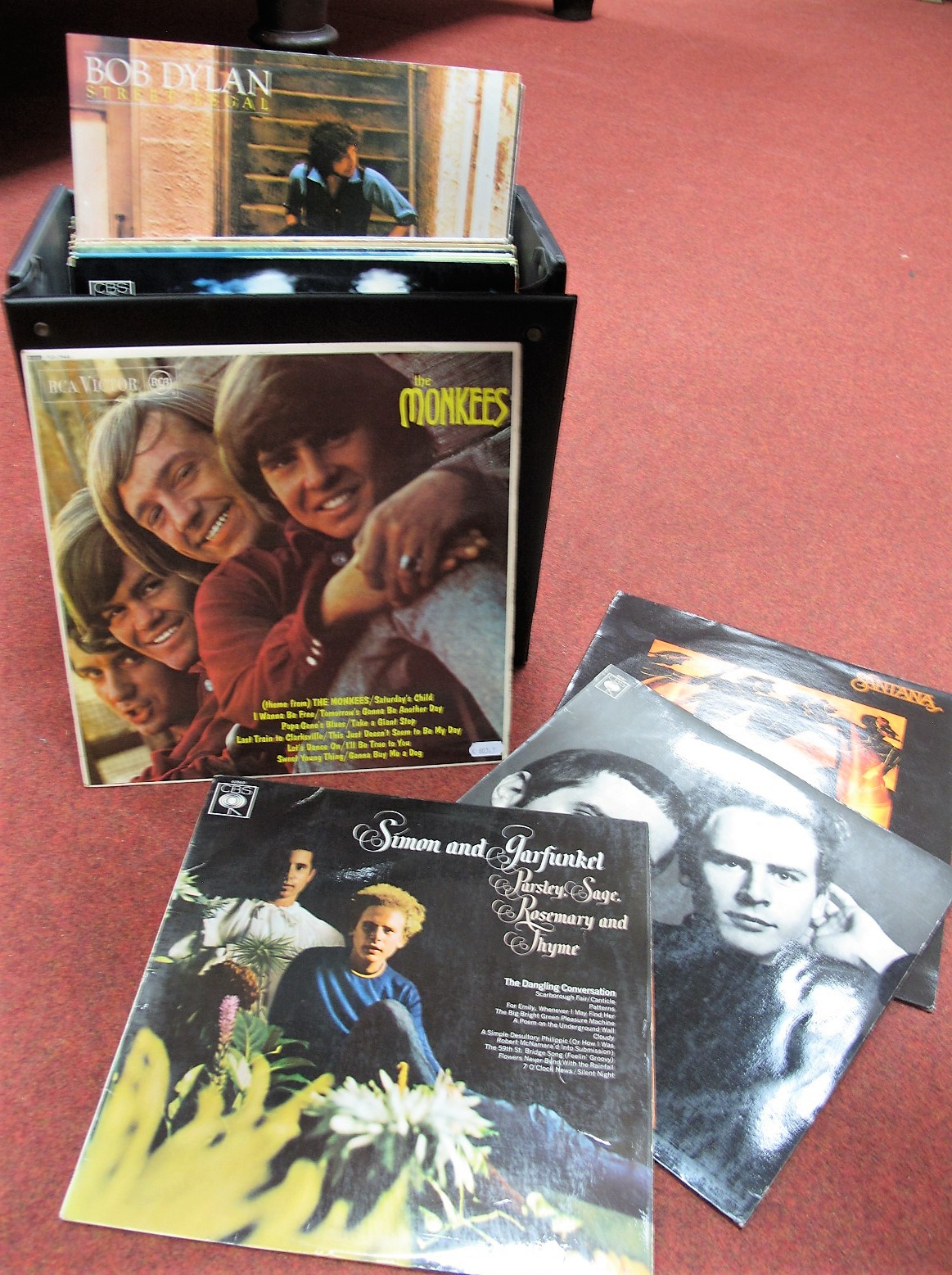 Lot 630 - A Collection of LP's. To include The Monkees (2), Simon and Garfunkel (3), Bob Lind, Paul Simon