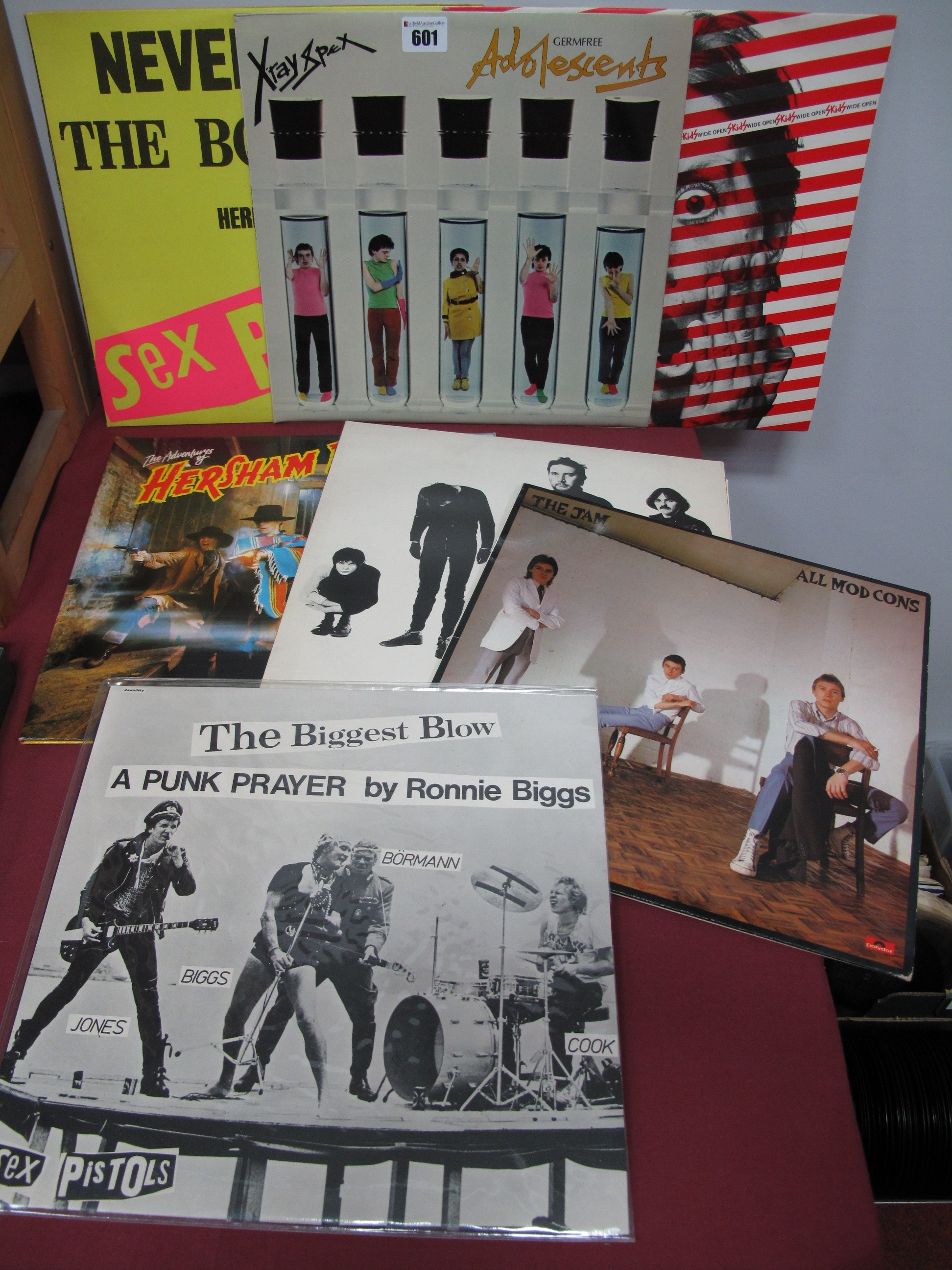 Lot 601 - Punk LP's, to include Sex Pistols 'Never Mind The Bo**ocks'; X-Ray Spex 'Germ Free Adolescents'; The