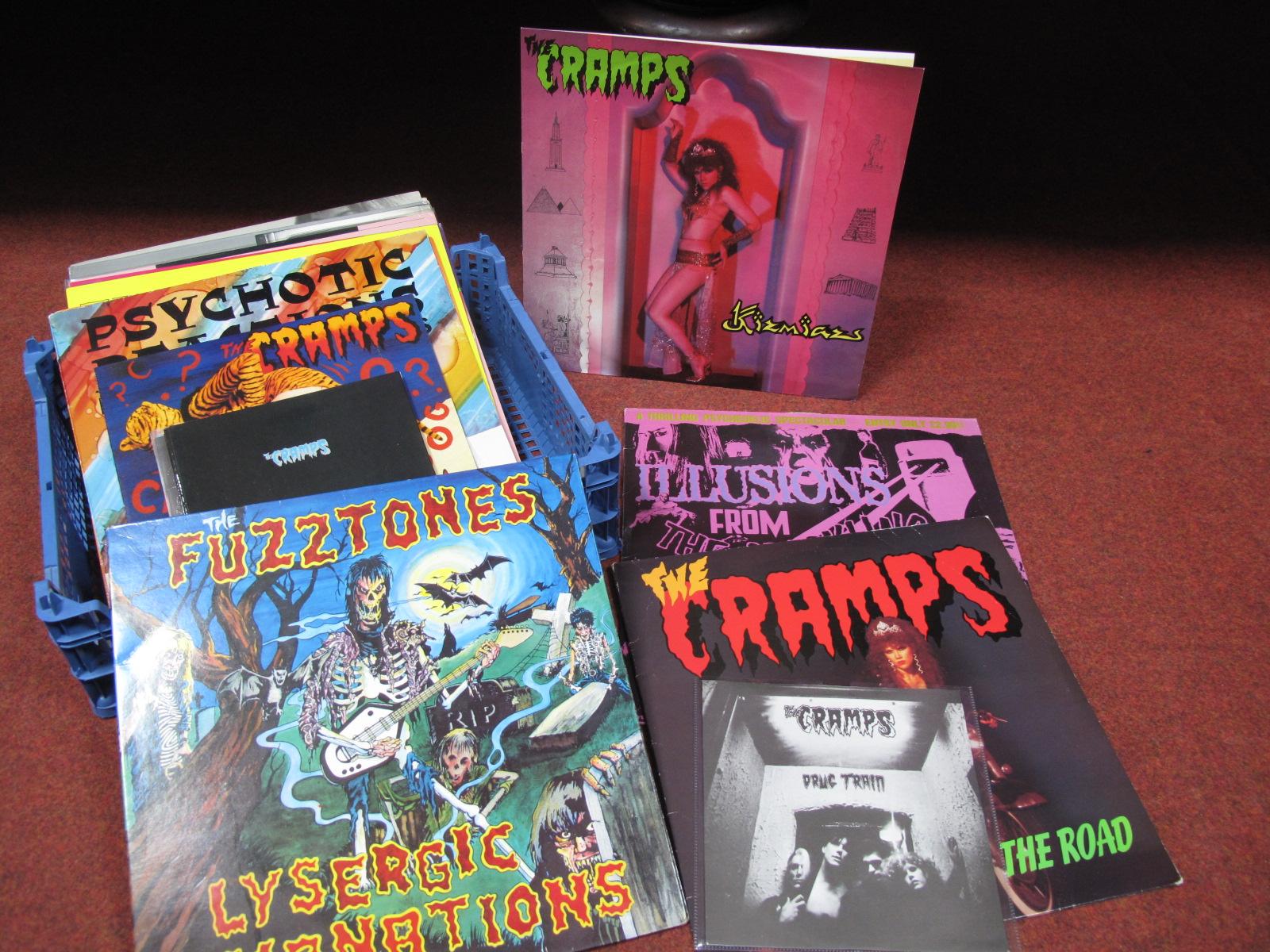"Lot 617 - The Cramps 'Kizmiaz' 12"" Single, pink vinyl, 'Get Off The Road', 10"" and 7"" singles, Fuzztones;"