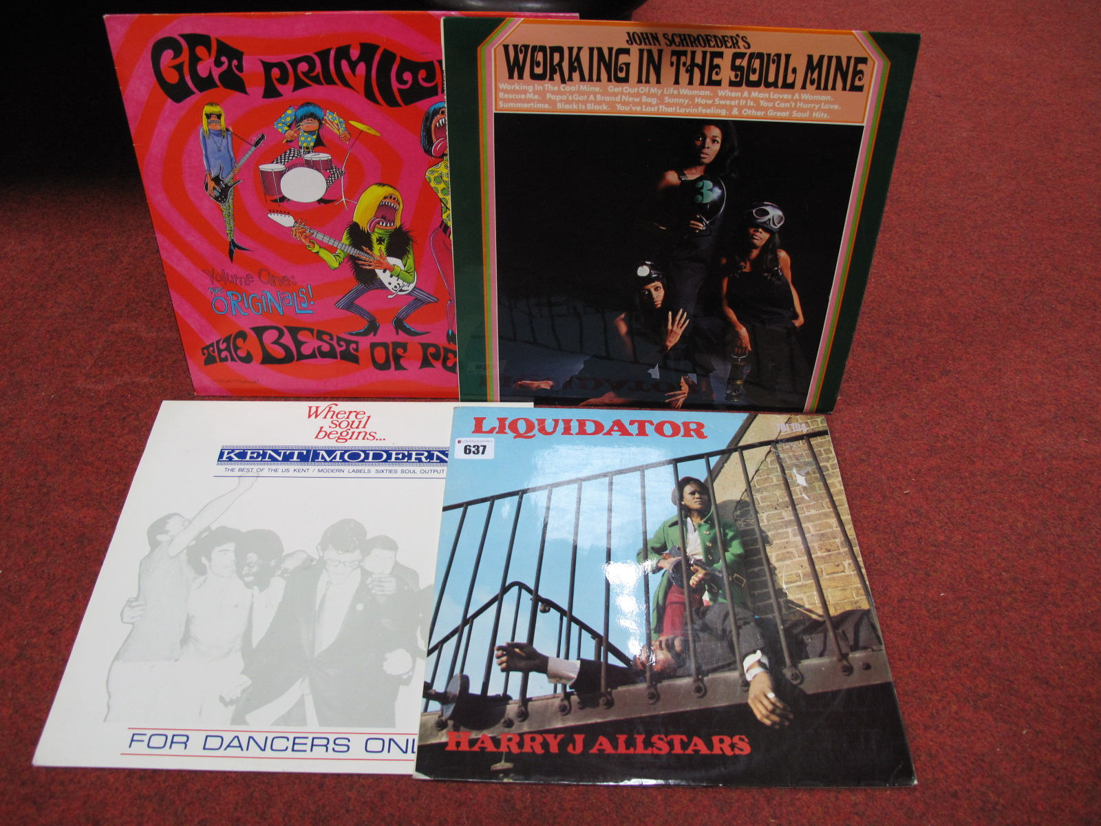 Lot 637 - Harry J All Stars 'Liquidator' LP (Trojan), John Schroeder's 'Working in The Soulmine' LP (Picadilly