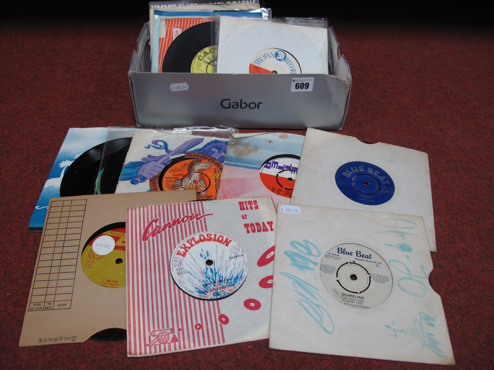 """Lot 609 - Reggae Interest - a nice collection of 7"""" singles (mostly 1960's /70's) to include artists Pioneers,"""