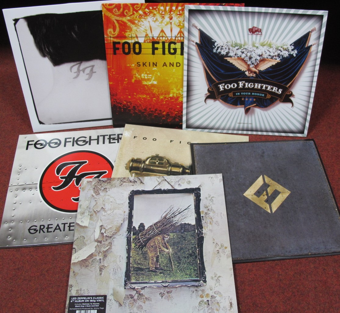 Lot 642 - Foo Fighters/Led Zeppelin LP's - a nice collection of six Foo Fighters LP's, Greatest Hits (2009),