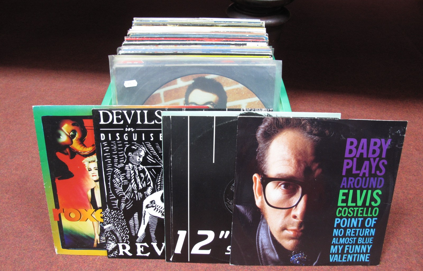 "Lot 636 - 1980's Interest - A collection of over sixty-five LP's/12"" singles to include Elvis Costello"